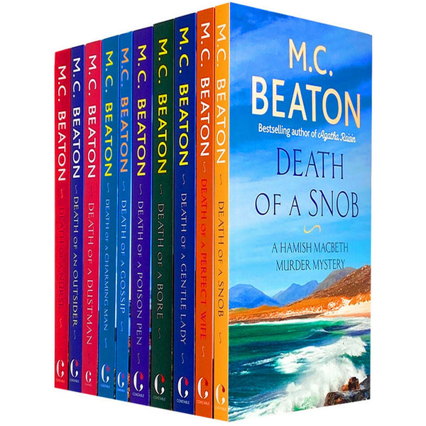 M C Beaton Hamish Macbeth Mystery Series 10 Books Collection Set Poison Pen, Nurse, Gossip