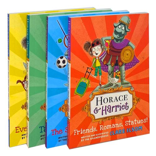Horace & Harriet 4 Book Set Collection by Clare Elsom, Take on The Town, The Sports spectacular...