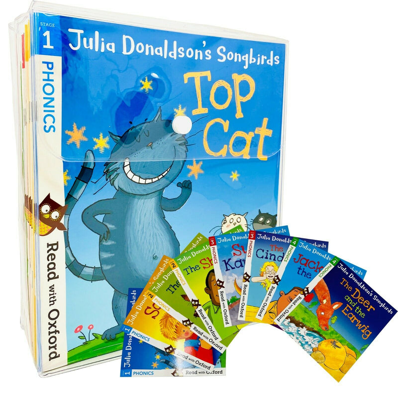 Julia Donaldson Songbirds Read with Oxford Phonics - 36 Books Collection