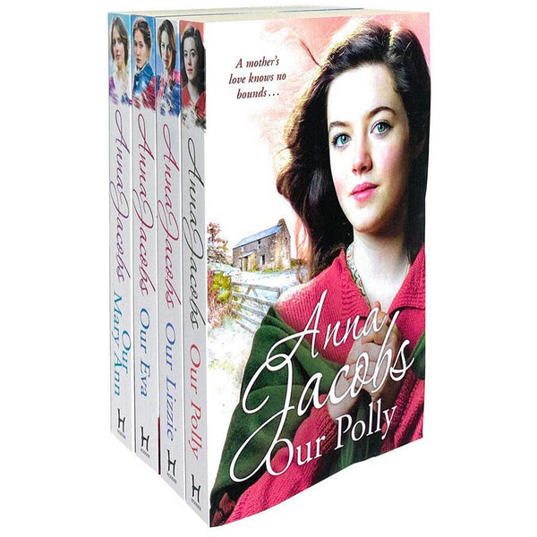 Anna Jacobs Kershaw Series Collection 4 Books Set New Cover - Our Lizzie Our Eva Our Polly And Our Mary Ann - books 4 people