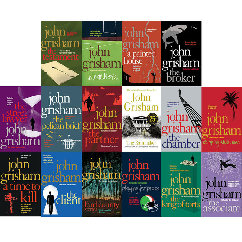 John Grisham Thrillers Collection 16 Books Set Street Lawyer, Partner Chamber