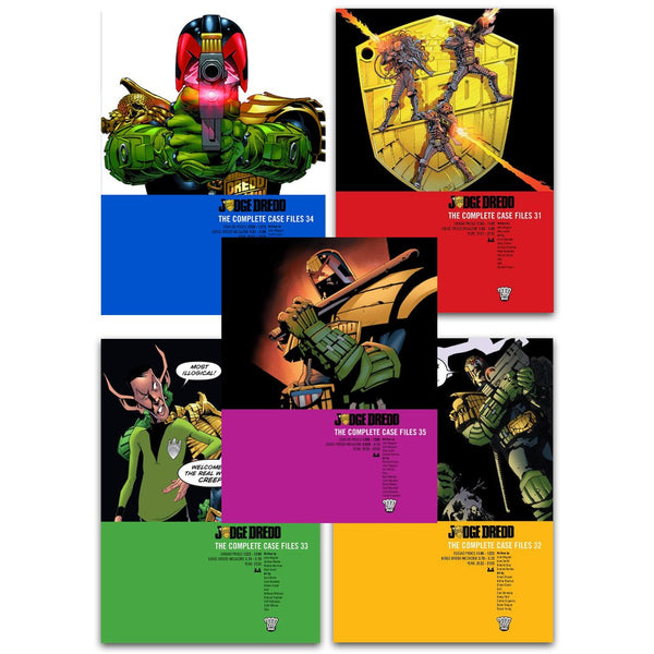 Judge Dredd Complete Case Files Volume 31-35 Collection 5 Books Set Series 7 By John Wagner
