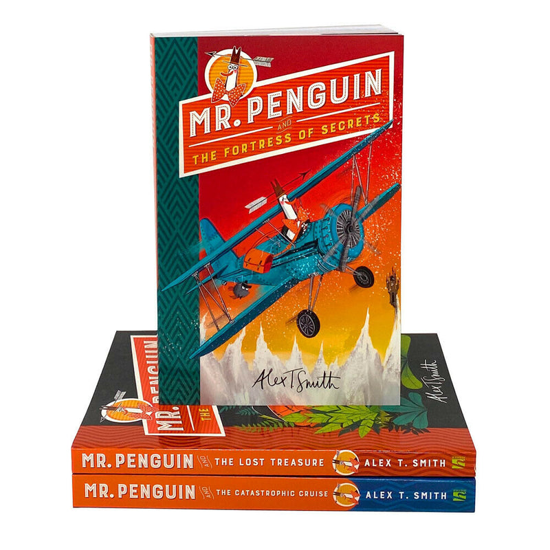Mr Penguin Series 3 Books Collection Set By Alex T Smith The Lost Treasure, The Fortress of Secrets