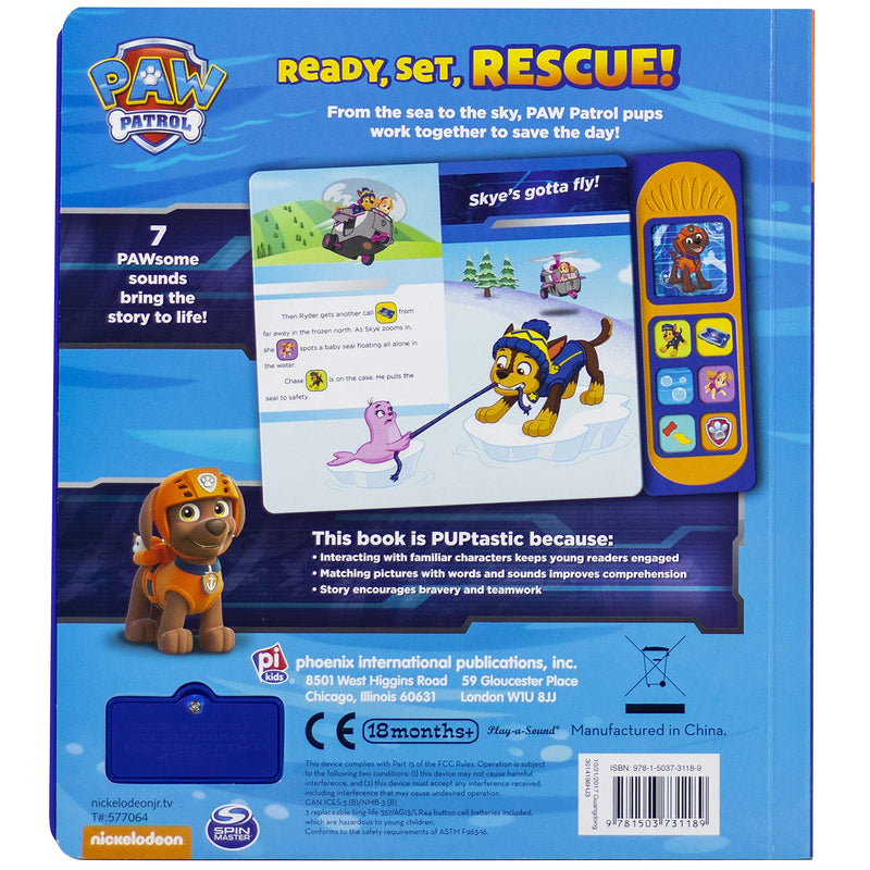 Nickelodeon Paw Patrol Chase, Skye, Marshall, and More! Ready, Set, Rescue! Sound Board Book