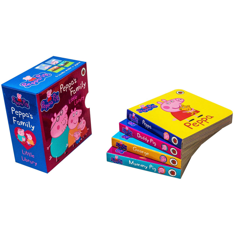 Peppa Pig Family Little Library Collection 4 Board Book Set