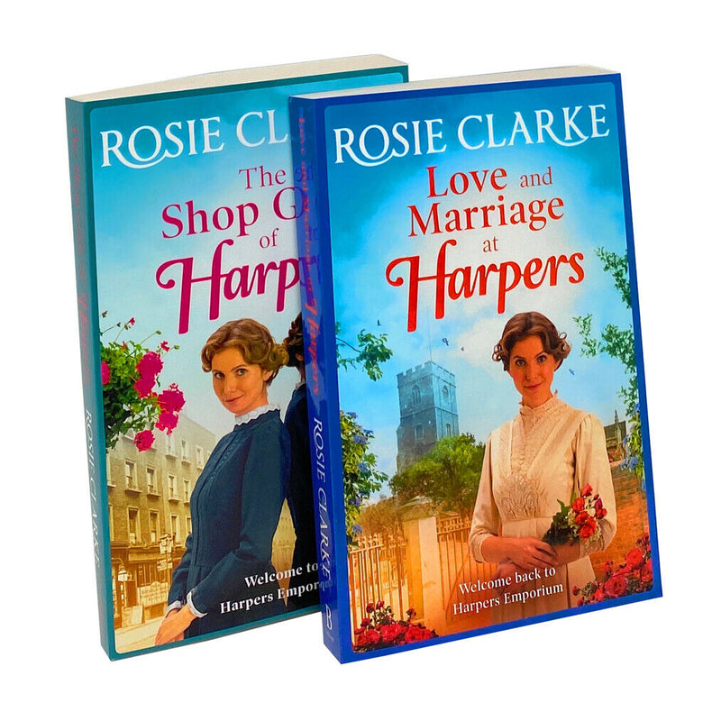 Rosie Clarke 2 Books Collection Set Love and Marriage at Harpers and The Shop Girls of Harpers