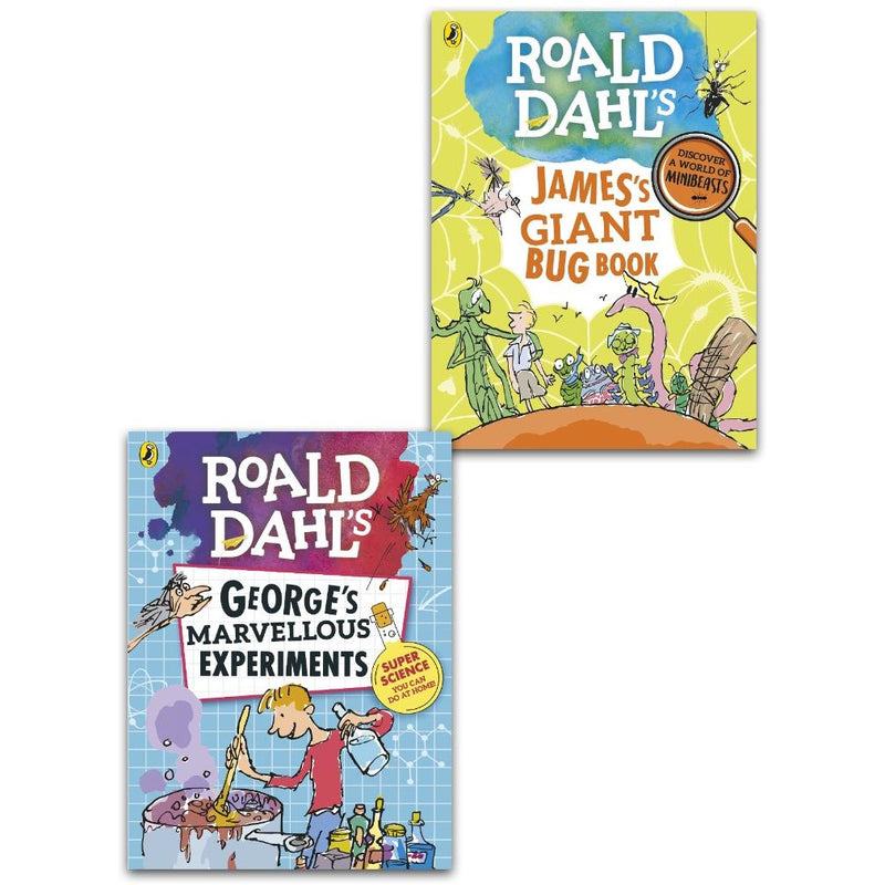 Roald Dahl Collection 2 Books Set - James Giant Bug Book and George Marvellous Experiments