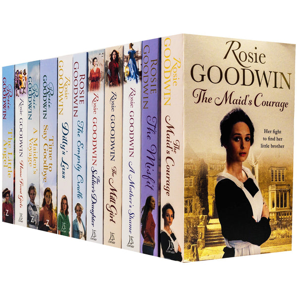 Rosie Goodwin Series 11 Books Collection Set Mill Girl Little Angel Empty Cradle Mothers Shame