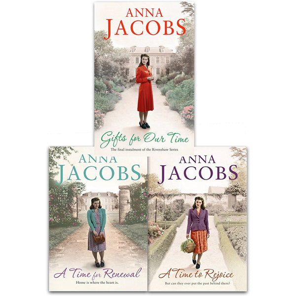 Anna Jacobs Rivenshaw Saga Series Collection 3 Books Set (A Time to Rejoice, A Time for Renewal, Gifts For Our Time) - books 4 people