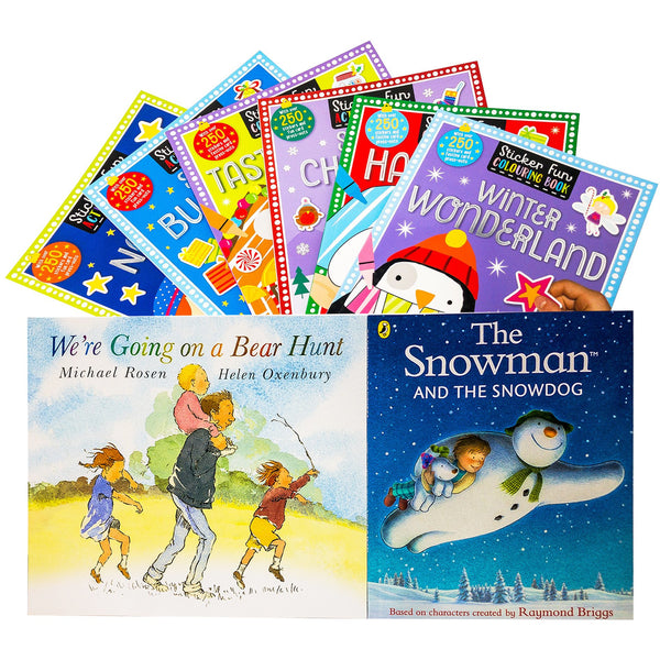 The Snowman Childrens Christmas 8 Books Collection Set with Activity Books Including Going on a Bear Hunt