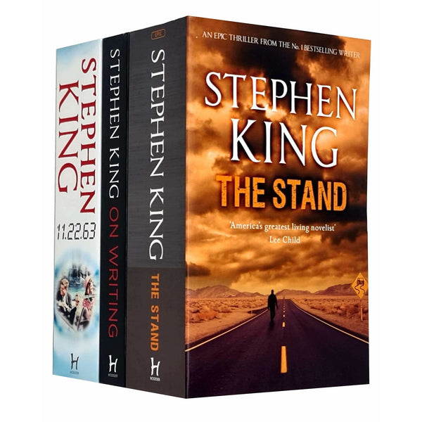 Stephen King Collection 3 Books Set - The Stand, 11.22.63, On Writing