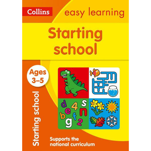Collins Easy Learning Preschool - Starting School Ages 3-5 : Reception Maths and English Home Learning