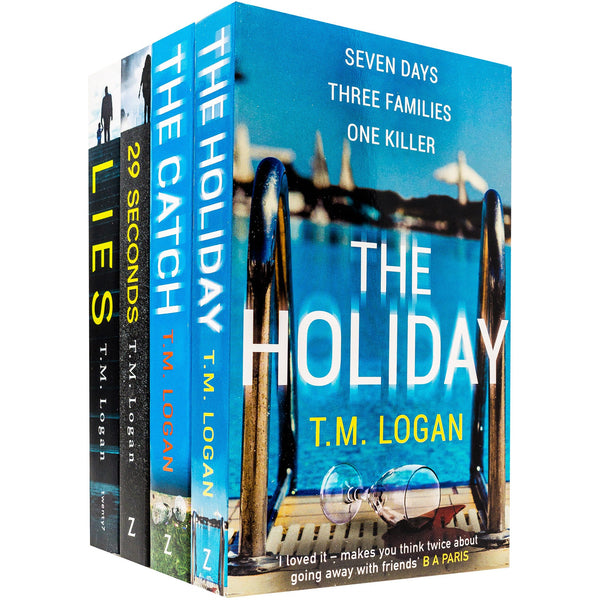 T M Logan Collection 4 Books Set (29 Seconds, Lies, The Catch, The Holiday)