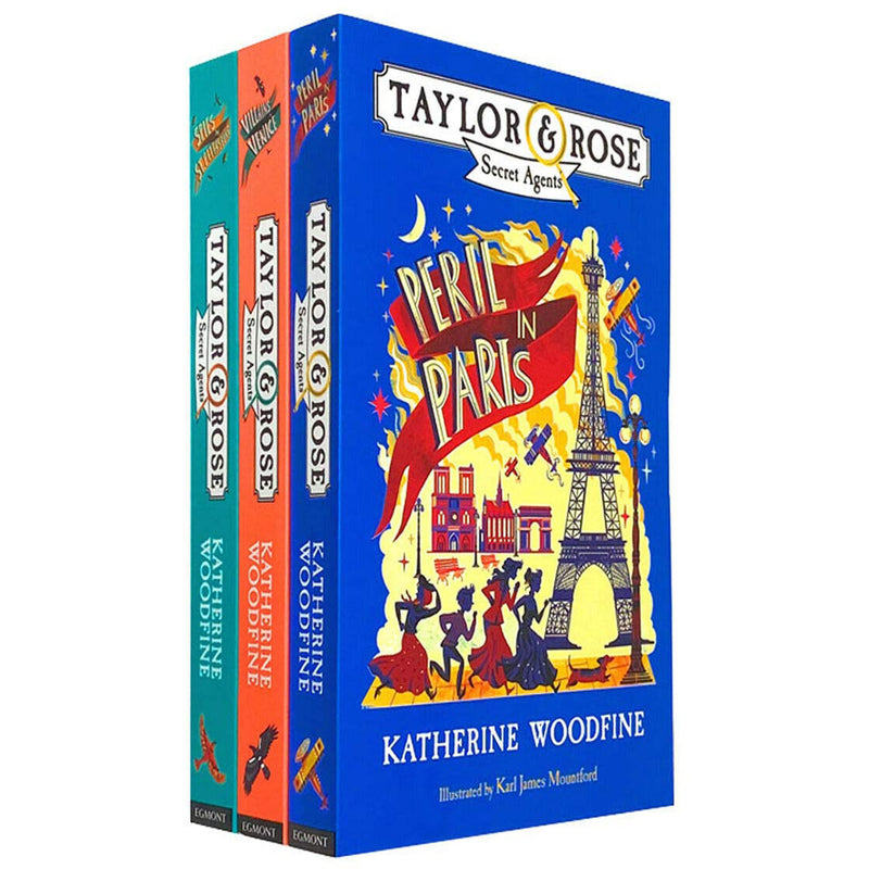 Taylor & Rose Secret Agents Series 3 Books Collection Set by Katherine Woodfine