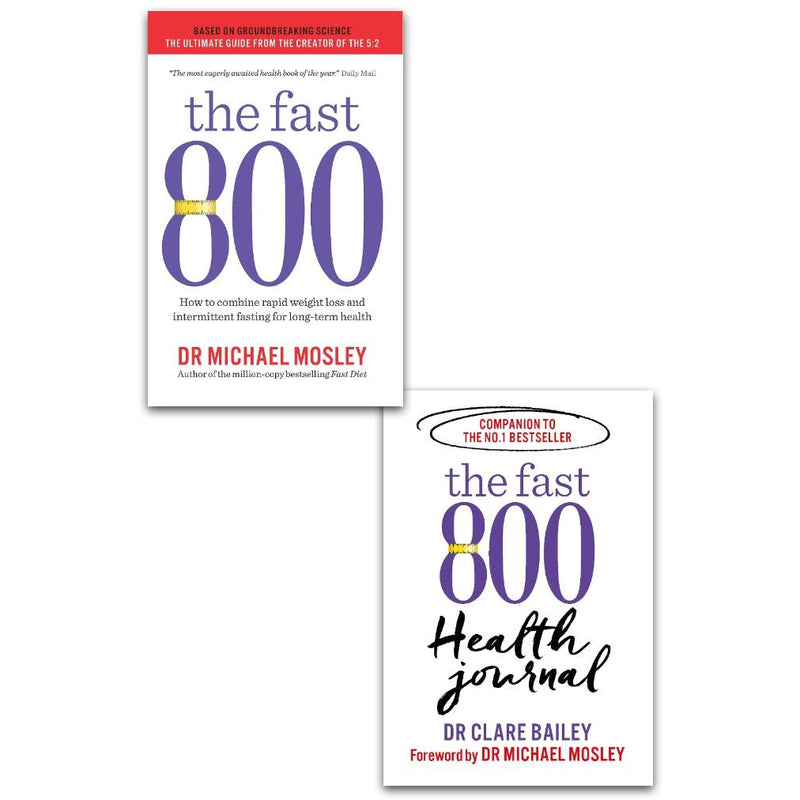 The Fast 800 & The Fast 800 Health 2 Books Collection Set by Michael Mosley