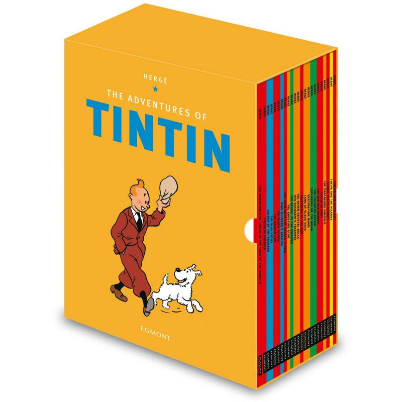 The Adventures Of Tintin Paperback Box Set 23 Book Titles Set Collection Herge