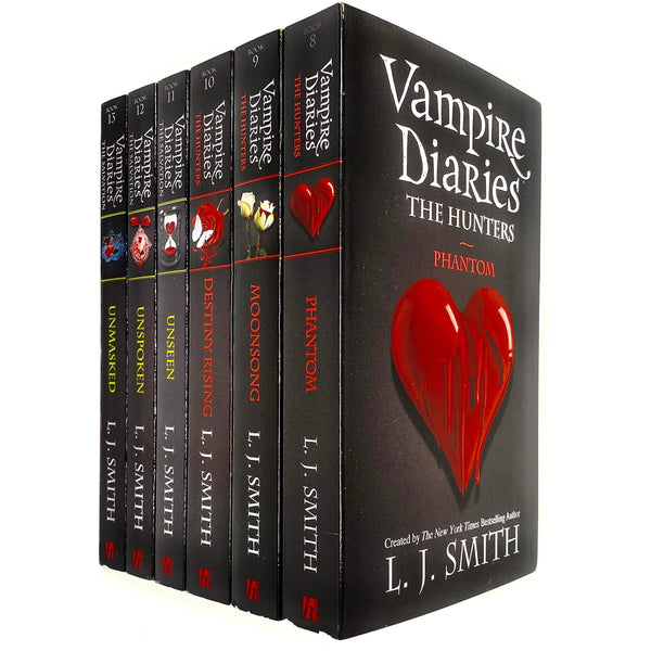 Vampire Diaries Complete Collection 6 Books Set by L. J. Smith (The Hunters) (Book 8 to 13) - books 4 people