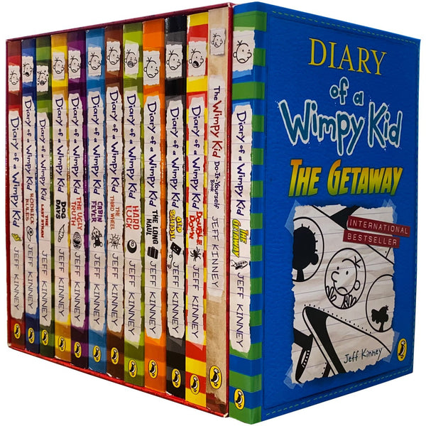 Diary of a Wimpy Kid Collection 13 Books Set by Jeff Kinney The Getaway, Double Down