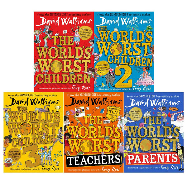 David Walliams World's Worst Children 5 Books Collection Set