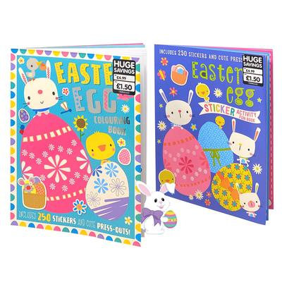 Easter Egg 2 Books Children Collection Paperback Set Colouring Activities Fun for Kids