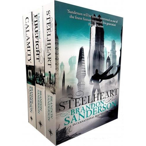 Brandon Sanderson Reckoners Series Collection 3 Books Set - Steelheart Firefight Calamity - books 4 people