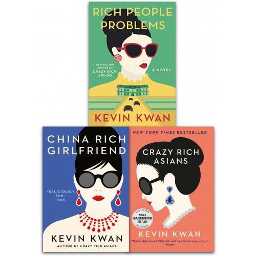 Kevin Kwan Crazy Rich Asians Trilogy Collection 3 Books Set Pack - books 4 people