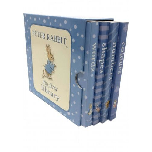 Beatrix Potter Peter Rabbit - My First Library 4 Board Book Collection Set Numbers Shapes Words Co.. - books 4 people