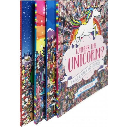 Wheres The Unicorn 4 Book Collection Wheres The Elf Wheres The Llama - books 4 people