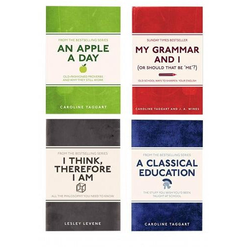 My Grammar And I 4 Book Collection Set An Apple A Day A Classical Education I Think Therefore I Am.. - books 4 people