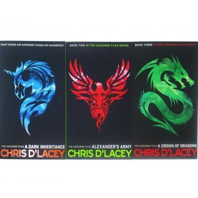 Unicorne Files Series Chris D Lacey Collection 3 Books Set - books 4 people
