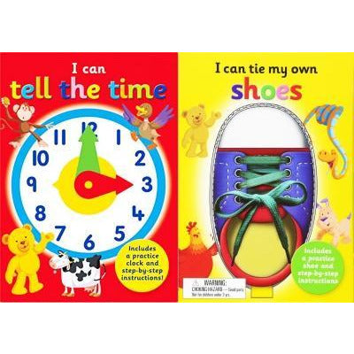 I Can Series 2 Books Collection Set  I Can Tie My Own Shoelaces I Can Tell The Time - books 4 people