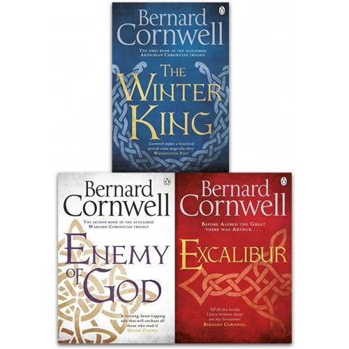 Bernard Cornwell Warlord Chronicles Collection 3 Books Set The Winter King Excalibur And  Enemy Of.. - books 4 people