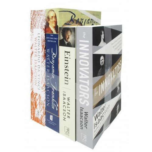 Walter Isaacson 4 Books Collection Set The Innovators Einstein Benjamin Franklin Leonardo Da Vinci - books 4 people