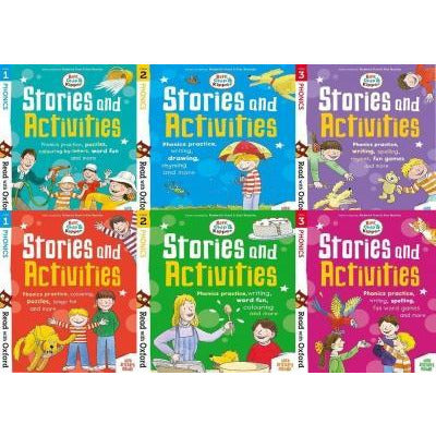 Read With Oxford Biff Chip And Kipper Stories And Activties Stage 1 To 3 6 Books Collection Set - books 4 people