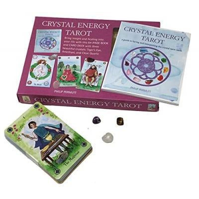 Crystal Energy Tarot Includes 78 Cards And A 64 Page Book By Philip Permutt - books 4 people