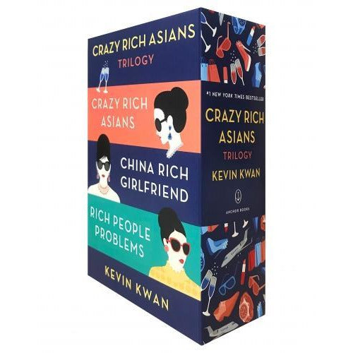 Kevin Kwan Crazy Rich Asians Trilogy 3 Books Collection Box Set - books 4 people