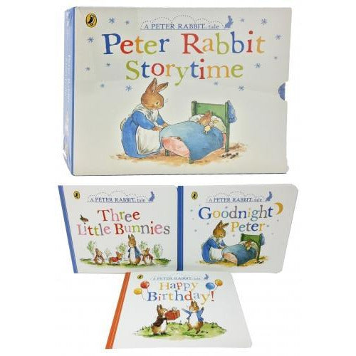 Peter Rabbit Story Time 3 Books Collection Box Set Childrens Classic Gift Set - Age 3 To 5 - Early.. - books 4 people