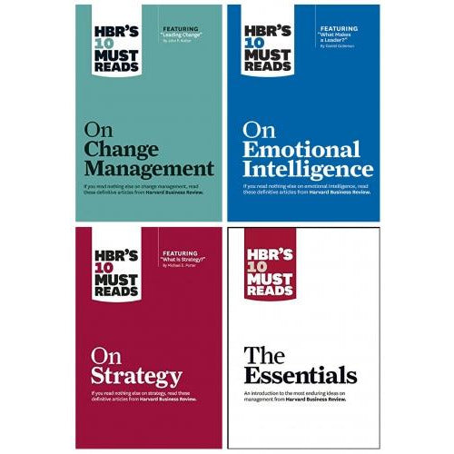 Hbrs 10 Must Reads Leadership Collection 4 Books Set - The Essentials Emotional Intelligence Strat.. - books 4 people