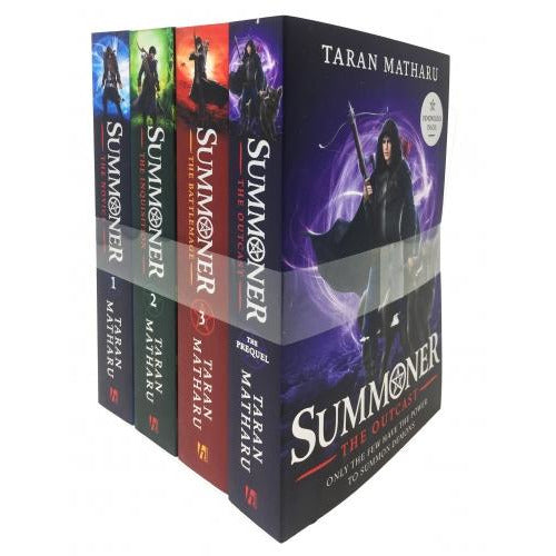 Taran Matharu The Summoner 4 Books Collection Set - The Battlemage The Outcast The Novice The Inqu.. - books 4 people