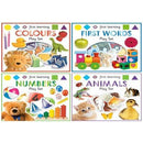 First Learning Play Set 4 Books Collection Set For Kids With Playable Puzzle - Colours Numbers Fir.. - books 4 people