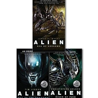 Alien Trilogy Collection 3 Books Set - Alien-sea Of Sorrows Alien-out Of The Shadows And Alien-riv.. - books 4 people