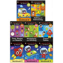 Ladybird I Am Ready Phonics Workbooks And Maths 8 Books Collection Set - books 4 people