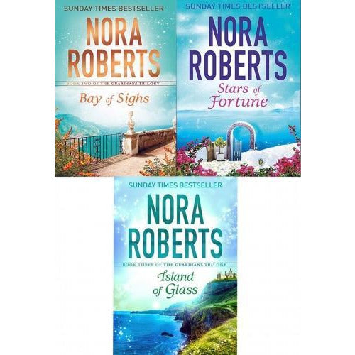 Nora Roberts Guardians Trilogy Book Collection Set Stars Of Fortune Bay Of Sighs Island Of Glass - books 4 people