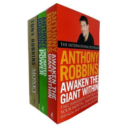 Tony Robbins 3 Books Collection Set Awaken The Giant Within Unlimited Power The New Science Of Per.. - books 4 people