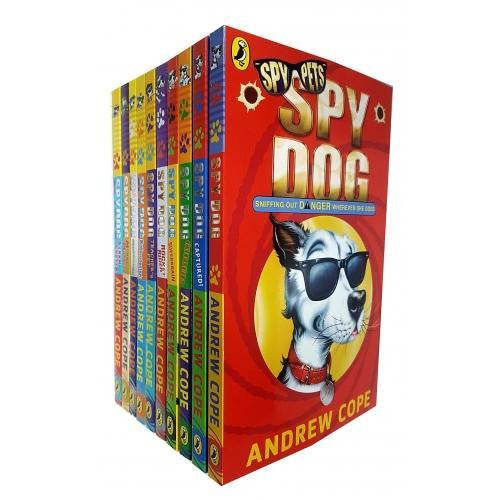 Spy Dog Series Andrew Cope Collection 10 Books Set - Unleashed Mummy Madness Captured Rocket Rider.. - books 4 people