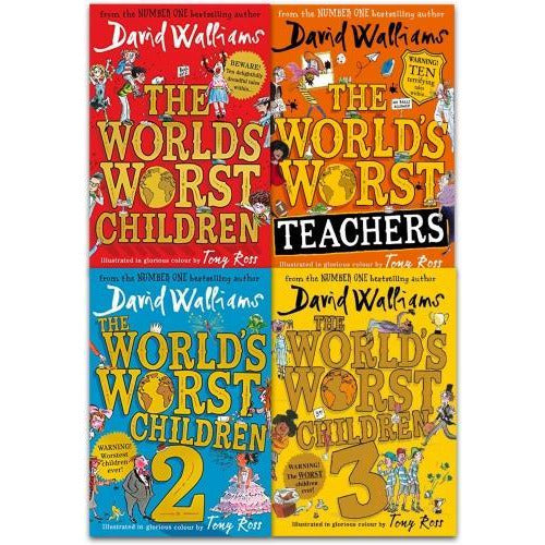David Walliams Worlds Worst Children Collection 4 Books Set - books 4 people