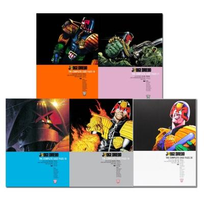 Judge Dredd - Complete Case Files Volume 16-20 Collection 5 Books Set - Series 4 - By John Wagner - books 4 people