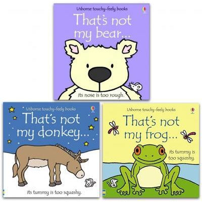 Thats Not My Animals Touchy Feely Series 3 Books Collection Set - Thats Not My Frog Thats Not My B.. - books 4 people