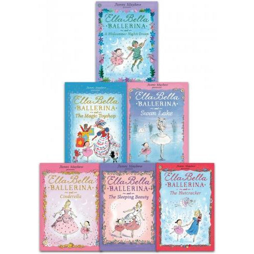 James Mayhew Ella Bella Series 6 Books Collection Set - Ballerina And Cindrella Ballerina And Swan.. - books 4 people