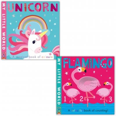 My Little World 2 Books Collection Set - Flamingo And Unicorn - books 4 people